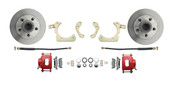 DBK6568-R  - 1965-1968 Full Size Chevy Complete Disc Brake Conversion Kit w/ Powder Coated Red Calipers