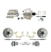 "DBK5964-GMFS2-310  - 1959-1964 GM Full Size Front Disc Brake Kit (Impala, Bel Air, Biscayne) & 8"" Dual Chrome Booster Conversion Kit w/ Chrome Master Cylinder Bottom Mount Disc/ Drum Proportioning Valve Kit"