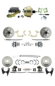 "DBK59641012FS-GMFS2-211  - 1959-1964 GM Full Size Front & Rear Power Disc Brake Kit (Impala, Bel Air, Biscayne) & 8"" Dual Zinc Booster Conversion Kit w/ Cast Iron Master Cylinder Left Mount Disc/ Drum Proportioning Valve Kit"