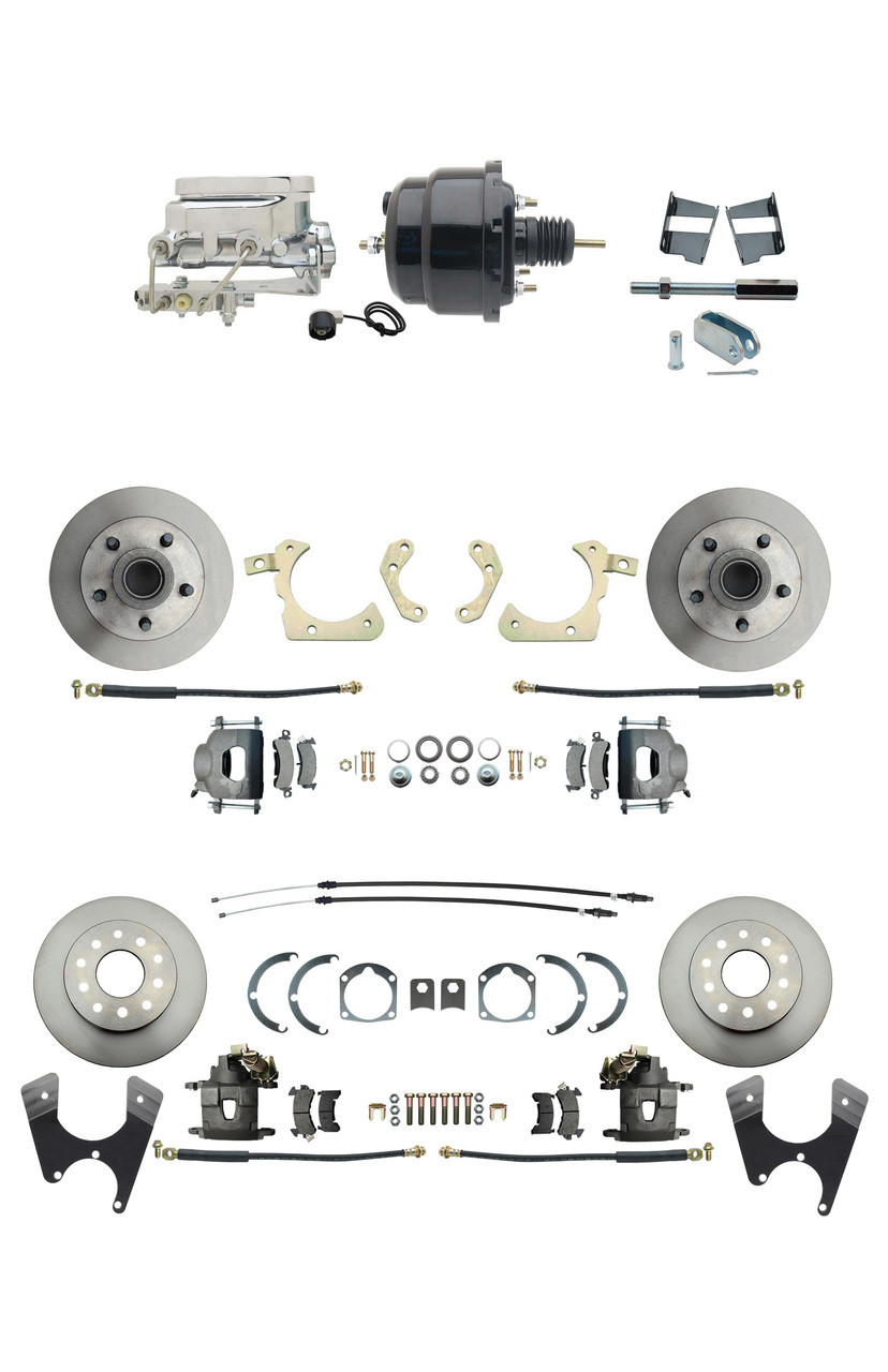 "Chevy Camaro Disc//Drum 11/"" Chrome Brake Booster Bail Top Master Cylinder Kit"