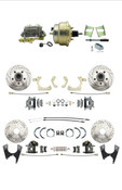 "DBK59641012FSLX-GMFS2-210  - 1959-1964 GM Full Size Disc Brake Kit Drilled/Slotted Rotors (Impala, Bel Air, Biscayne) & 8"" Dual Zinc Booster Conversion Kit w/ Cast Iron Master Cylinder Bottom Mount Disc/ Drum Proportioning Valve Kit"