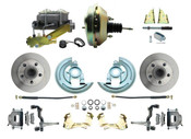"DBK6769-GM-209  - 1967-1969 F Body 1968-1974 X Body Front Power Disc Brake Conversion Kit Standard Rotors w/9"" Dual Zinc Booster Kit"