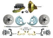 "DBK6769-GM-224  - 1967-1969 F Body 1968-1974 X Body Front Power Disc Brake Conversion Kit Standard Rotors w/ 11"" Delco Stamped Booster Kit"