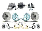"DBK6769-GM-709  - 1967-1969 F Body 1968-1974 X Body Front Power Disc Brake Conversion Kit Standard Rotors w/ 8"" Dual Powder Coated Black Booster Kit"