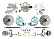 "DBK6769-GM-309  - 1967-1969 F Body 1968-1974 X Body Front Power Disc Brake Conversion Kit Standard Rotors w/8"" Dual Chrome Flat Top Booster Kit"
