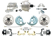 "DBK6769-GM-311  - 1967-1969 F Body 1968-1974 X Body Front Power Disc Brake Conversion Kit Standard Rotors w/ 8"" Dual Chrome Booster Kit"