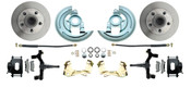 "DBK6472D-B  - 1964-1972 GM A Body (Chevelle, GTO, Cutlass) 2"" Drop Front Disc Brake Kit Black Calipers"
