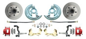 DBK6472-R  - 1964-1972 GM A Body (Chevelle, GTO, Cutlass) Stock Height Front Disc Brake Kit Red Calipers