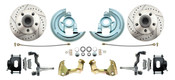 DBK6769LXB  - 1967-1969 Camaro/ Firebird & 1968-1974 Chevy Nova Stock Height Front Disc Brake Kit w/ Drilled & Slotted Rotors Black Calipers