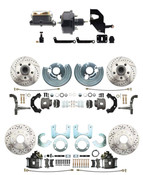 DBK6272834A-45-LX-MPDC-201  - 1962-1972 A Body Front & Rear Power Disc Brake Conversion Kit w/ Drilled & Slotted Rotors (5x4.5) Bolt Pattern