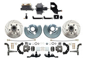 DBK6272A-45LX-MPDC-201  - 1962-1972 A Body Power Disc Brake Conversion Kit (5x4.5) Bolt Pattern Drilled & Slotted Rotors