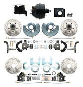 DBK6272834LX-BCK8536-2 1966-70 B Body 71-74 E Body O.E.M. Style Front & Rear Drilled & Slotted Rotor Disc Brake Kit & Booster Conversion w/ Casting Numbers