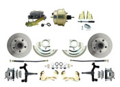 "DBK6472D-GM-207  - 1964-1972 GM A Body Front Power 2"" Drop Disc Brake Conversion Kit Standard Rotors w/ 8""Dual Zinc Booster Kit"