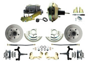 "DBK6472D-GM-209  - 1964-1972 GM A Body Front Power 2"" Drop Disc Brake Conversion Kit Standard Rotors w/9"" Single  Zinc Booster Kit"