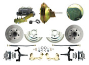"DBK6472D-GM-224  - 1964-1972 GM A Body Front Power 2"" Drop Disc Brake Conversion Kit Standard Rotors w/ 11"" Delco Stamped Booster Kit"
