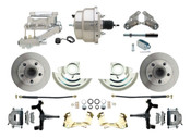 "DBK6472D-GM-309  - 1964-1972 GM A Body Front Power 2"" Drop Disc Brake Conversion Kit Standard Rotors w/8"" Dual Chrome Flat Top Booster Kit"