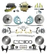 """DBK64721012-GM-215  - 1964-1972 GM A Body Front & Rear Power Disc Brake Conversion Kit Standard Rotors w/ 8""""Dual Zinc Booster Kit"""