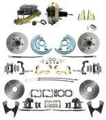 """DBK64721012-GM-217  - 1964-1972 GM A Body Front & Rear Power Disc Brake Conversion Kit Standard Rotors w/ 9"""" Dual Zinc Booster Kit"""