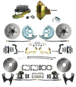 "DBK64721012-GM-219  - 1964-1972 GM A Body Front & Rear Power Disc Brake Conversion Kit Standard Rotors w/ 11"" Delco Stamped Booster Kit"