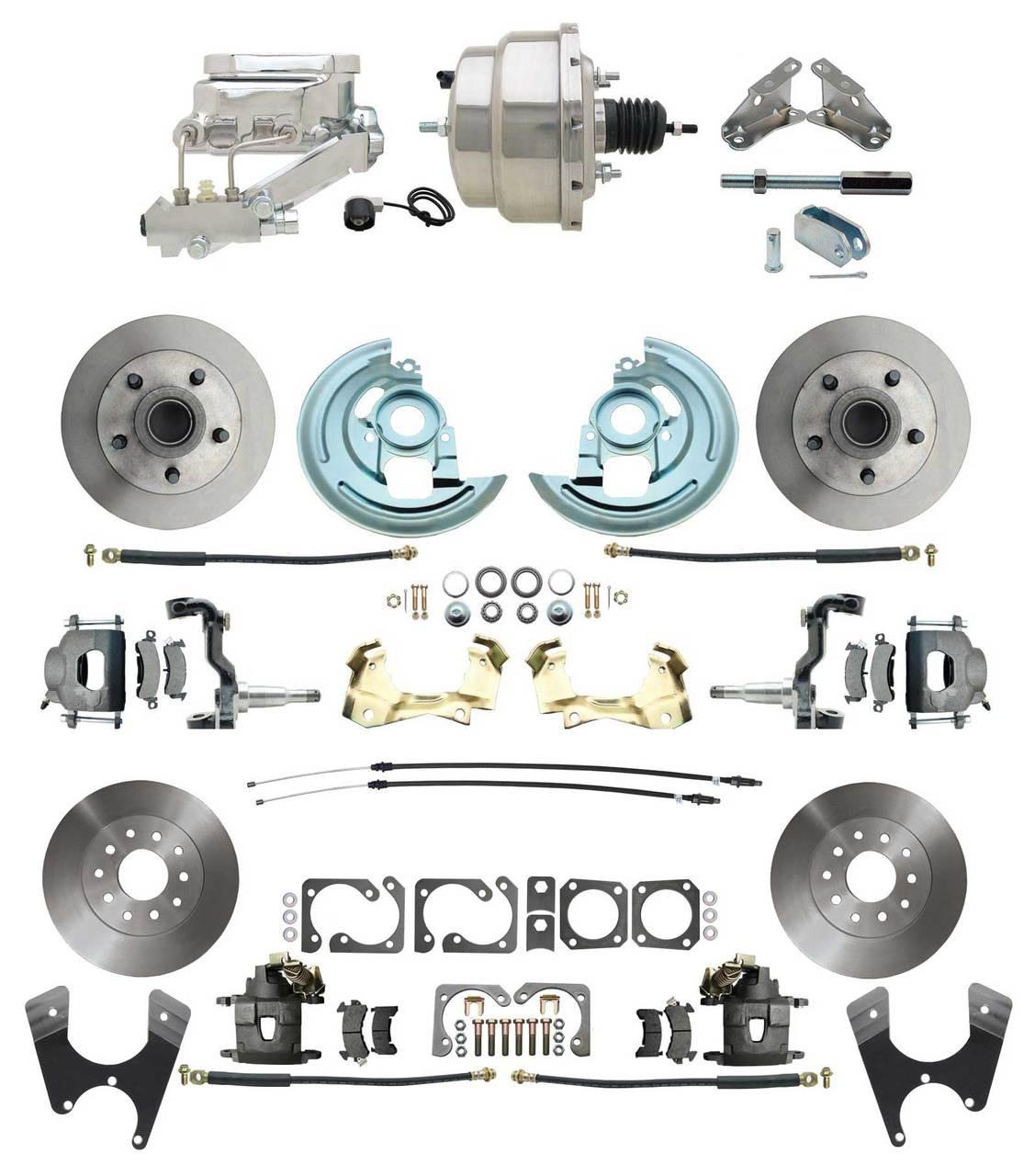 "Mounting Bracket Kit CHROME 1964-1972 A-Body 7/"" Dual Power Brake Booster"