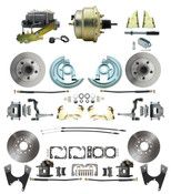 "DBK67691012S-GM-215  - 1967-1969 Camaro/ Firebird & 1968-1974 Chevy Nova Front & Rear Power Disc Brake Conversion Kit Standard Rotors w/ 8""Dual Zinc Booster Kit"