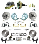 "DBK67691012S-GM-217  - 1967-1969 Camaro/ Firebird & 1968-1974 Chevy Nova Front & Rear Power Disc Brake Conversion Kit Standard Rotors w/ 9"" Dual Zinc Booster Kit"