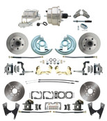 "DBK67691012S-GM-330  - 1967-1969 Camaro/ Firebird & 1968-1974 Chevy Nova Front & Rear Power Disc Brake Conversion Kit Standard Rotors w/ 8"" Dual Chrome Booster Kit"