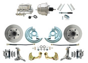 "DBK6267-GM-337  - 1962-1967 Nova Power Disc Brake Conversion Kit w/ 7"" Dual Chrome Booster Kit"