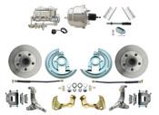 """DBK6267-GM-337  - 1962-1967 Nova Power Disc Brake Conversion Kit w/ 7"""" Dual Chrome Booster Kit"""