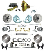 "DBK67691012S-GM-223  -  1967-1969 Camaro/ Firebird & 1968-1974 Chevy Nova Front & Rear Power Disc Brake Conversion Kit Standard Rotors w/ 11"" Delco Style Non-Stamped Booster Kit"
