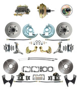 "DBK62671012-GM-234  - 1962-1967 Nova Power Front & Rear Disc Brake Conversion Kit w/ 9"" 3 Stud Booster"