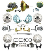 "DBK64721012LX-DB-120D  - 1964-1972 GM A Body Front & Rear Power Disc Brake Conversion Kit Drilled & Slotted Rotors w/ 11"" Delco Stamped Booster Kit & Casting Number Master"