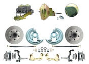 "DBK6472-GM-232  - 1964-1972 GM A Body Front Power Disc Brake Conversion Kit Standard Rotors w/ 9"" Delco Stamped Booster Kit"