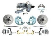 """DBK6472-GM-340  - 1964-1972 GM A Body Front Power Disc Brake Conversion Kit Standard Rotors w/ 9""""  Chrome Booster Kit"""
