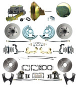 "DBK64721012-DB-120- 1964-1972 GM A Body Front & Rear Power  Disc Brake Conversion Kit Standard Rotors w/ 11"" Single Delco Moraine Stamped Zinc Booster Kit & Casting Number Master"