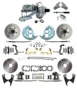 """DBK64721012-GM-341  - 1964-1972 GM A Body Front & Rear Power Disc Brake Conversion Kit Standard Rotors w/ 9""""  Chrome Booster Kit"""