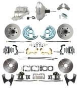 """DBK64721012-GM-343  - 1964-1972 GM A Body Front & Rear Power Disc Brake Conversion Kit Standard Rotors w/ 11""""  Chrome Booster Kit"""