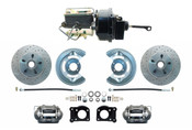 DBK6473LX-FD-250  - 1964.5-1966 Ford Mustang Front Power Disc Brake Conversion Drilled/ Slotted Rotors