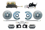 DBK6473LX-MC7161-A  - 1964-1973 Manual Mustang Disc Brake Conversion Kit w/ Drilled & Slotted Rotors