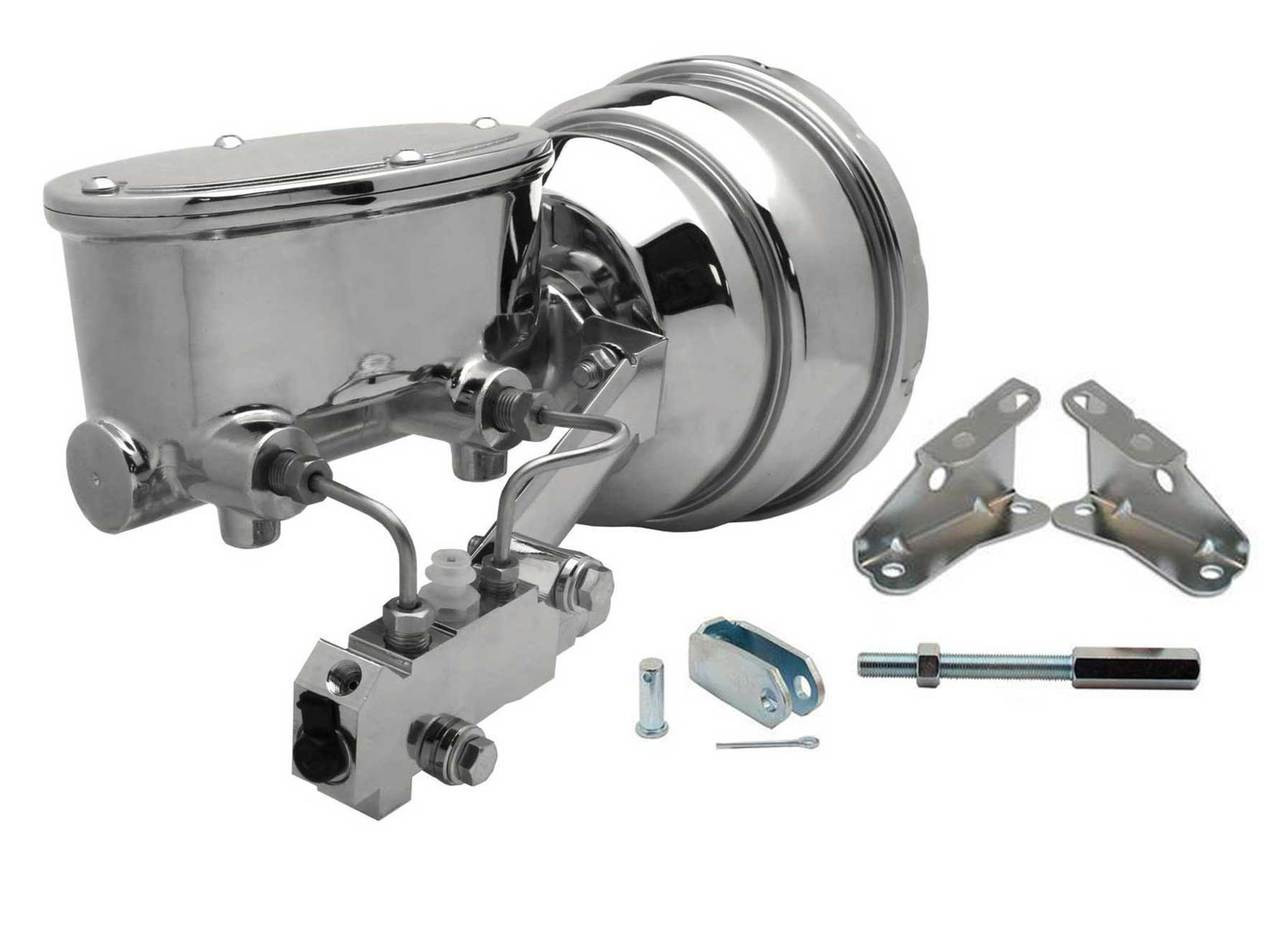 Gm 380 1964 1972 A F X 8 Dual Chrome Booster Conversion Kit Brakes Disc Drum Oval Master