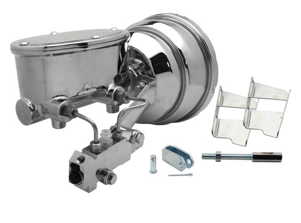 "7/"" Dual Booster w Master Cylinder Disc Drum Proportioning Valve /& Bracket Kit"