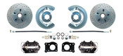 DBK6473LX-B  - 1964.5 - 1973 Mustang Disc Brake Conversion Kit Drilled & Slotted Rotors Black Calipers