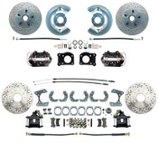 DBK6473-9-LXB- 1964.5-1966 Ford Mustang Front & Rear Disc Brake Conversion Black Calipers