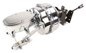 "CT-303 - 1967-1972 Chevy Truck 9"" Dual Chrome Power Booster Conversion Kit Oval Master (Disc/Drum)"