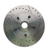 5314RX  -  1962-1972 Mopar A, B, & E Body  Vehicle Drilled/ Slotted Large Bolt Pattern Front Rotor (Passenger Side)