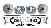 DBK6272A-45-B - 1962-1972 Mopar A Body Large Bolt Pattern Standard Disc Brake Conversion Kit w/ Powder Coated Black Calipers