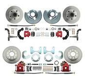 DBK6272834R - 1962-1972 Mopar B&E Body Standard Disc Brake Conversion Kit w/ Red Powder Coated Calipers