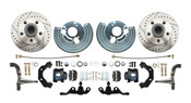 DBK6272A-45-LXB - 1962-1972 Mopar A Body Large Bolt Pattern Standard Disc Brake Conversion Kit w/ Powder Coated Black Calipers