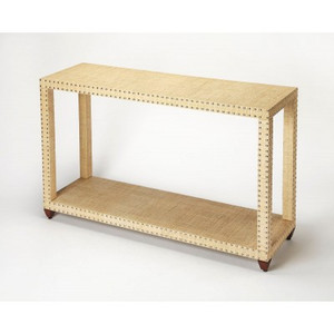 Camden Raffia Console Table