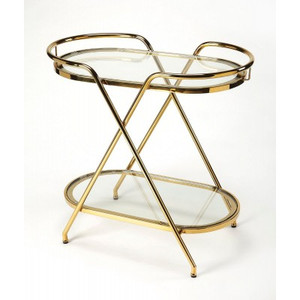 Emily Polished Gold Bar Cart